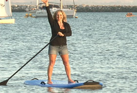 Aprilanne checks out the Stand Up Paddle Boarding craze in Half Moon Bay, CA